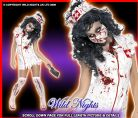 HALLOWEEN FANCY DRESS # DLX ZOMBIE NURSE MED 12-14